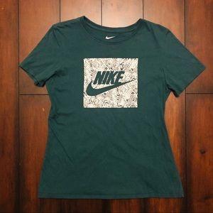 Nike Snakeskin Logo Athletic Cut Tee Shirt